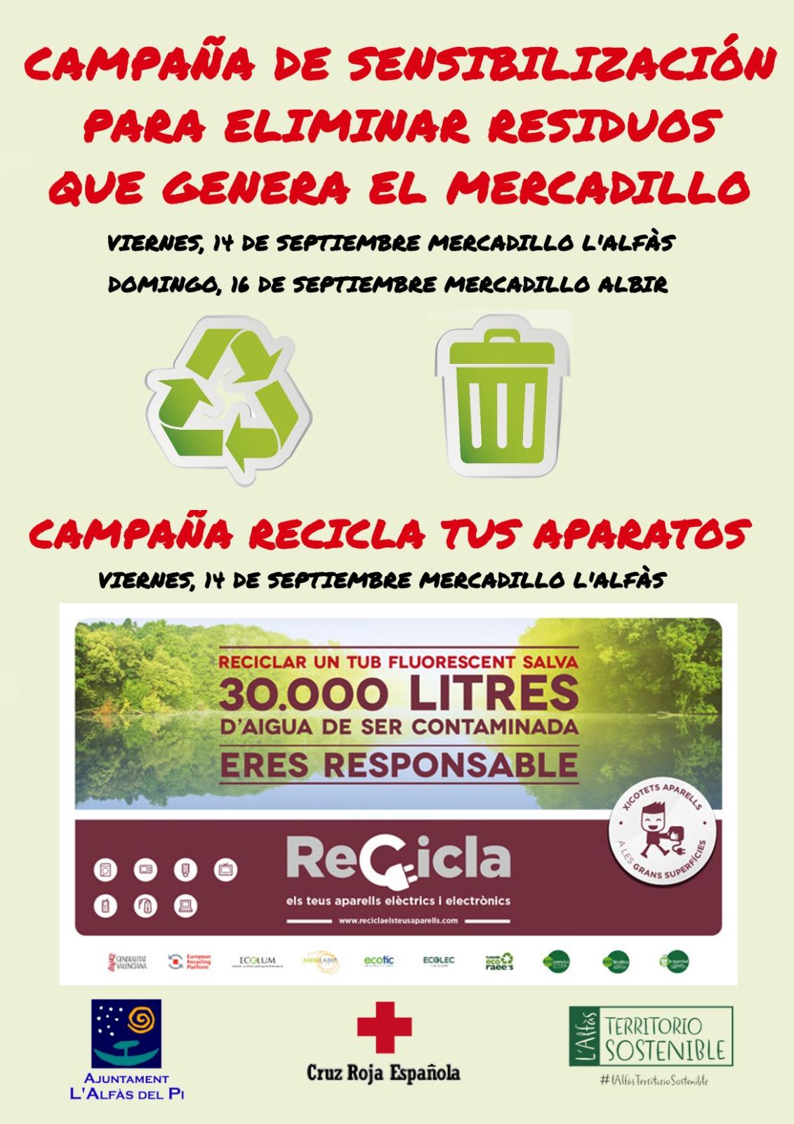 Mañana llega a l'Alfàs la campaña de la Generalitat 'Recicla tus aparatos eléctricos'