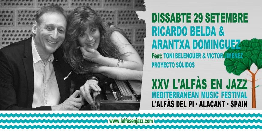 Mañana finaliza el festival L'Alfàs en Jazz con el concierto de Arantxa Domínguez y Ricardo Belda
