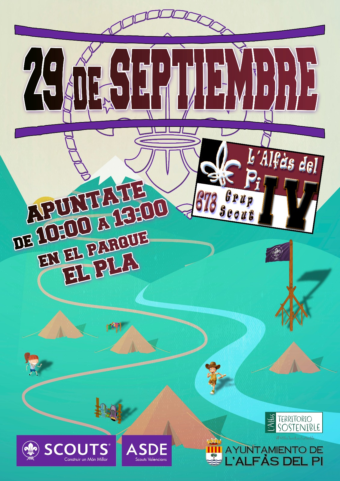 El IV Grupo Scout de l'Alfàs celebrará una jornada de juegos y actividades en el parque de El Pla