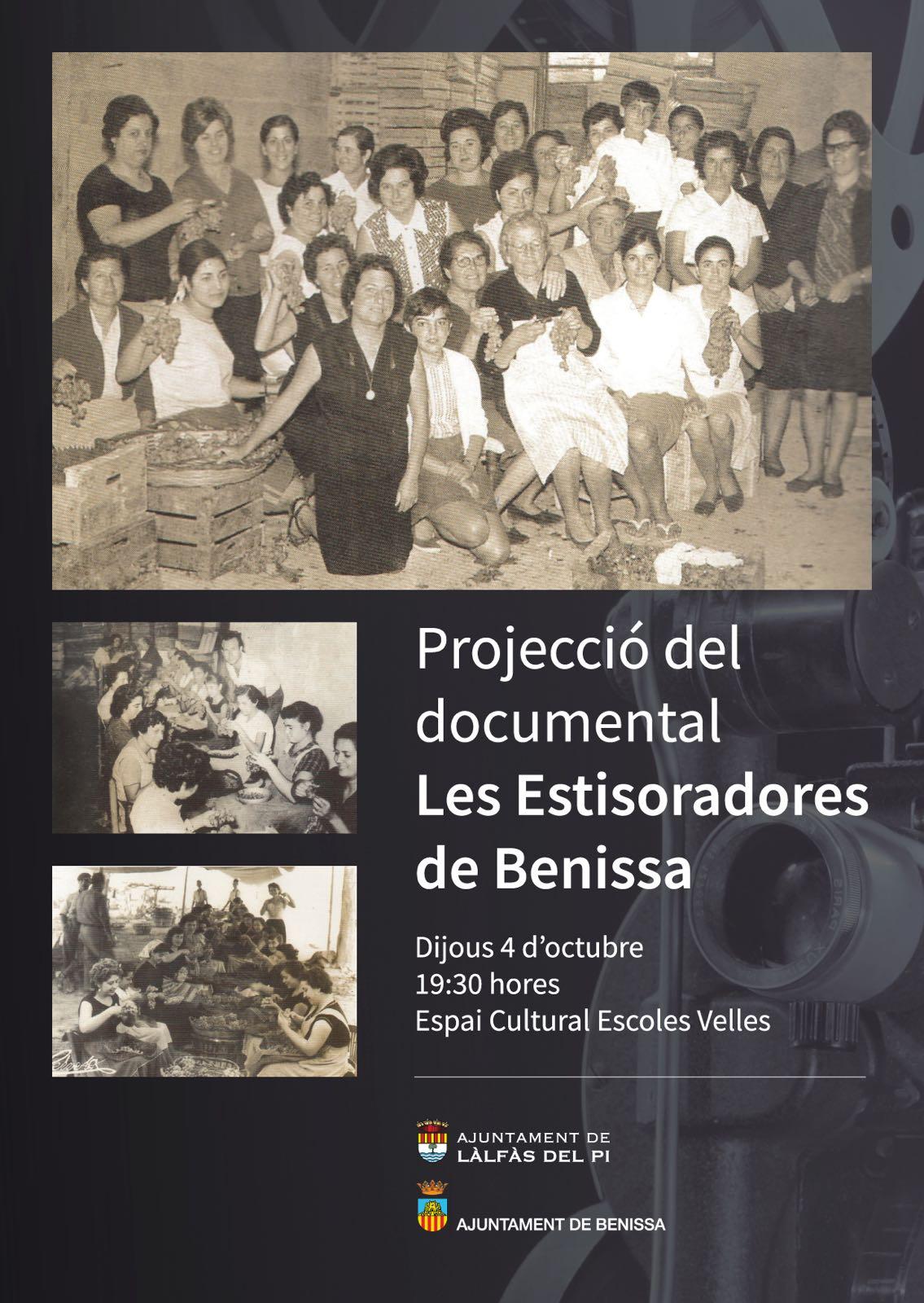 Arrancan los actos del 9 d'octubre con la proyección del documental 'Les Estisoradores de Benissa'