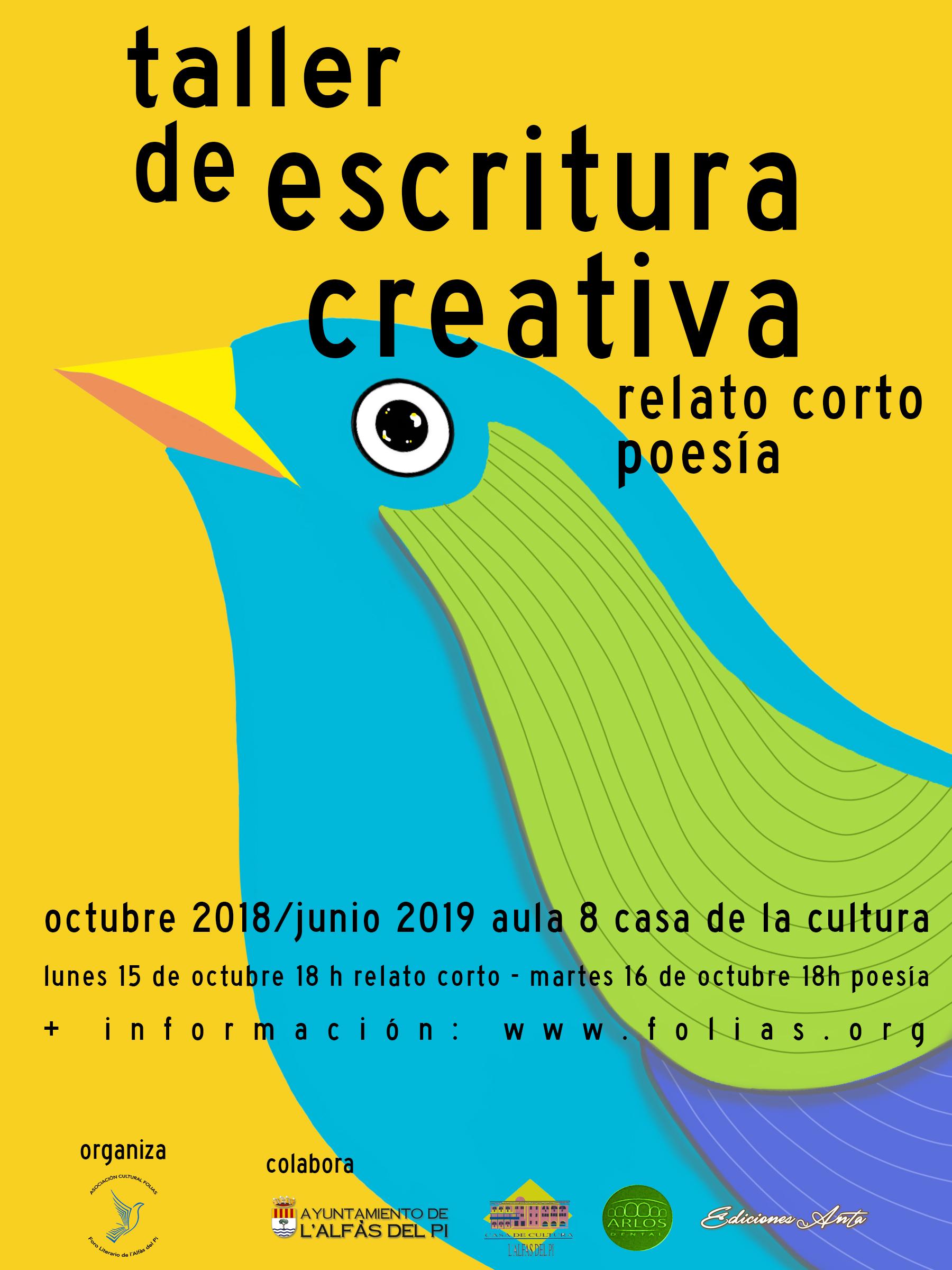 Este mes arrancan los talleres creativos que organizan la concejalía de Cultura y FOLIAS