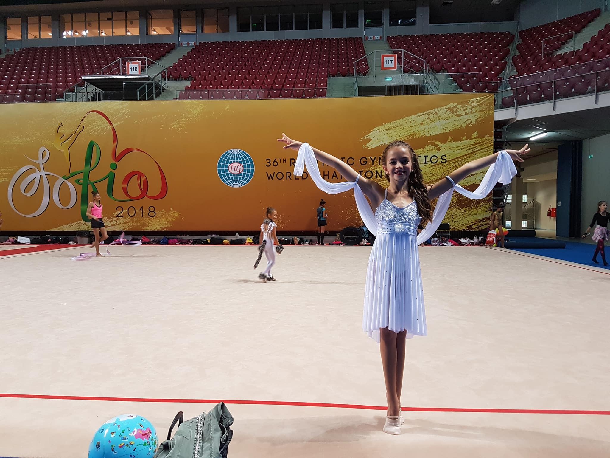 Elena Nikolova tomó parte en el mundial de Gimnasia rítmica que se celebró en Bulgaria recientemente