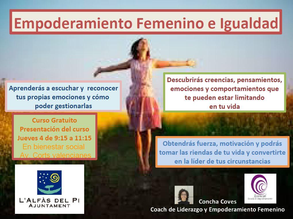 Igualdad lanza una nueva edición del curso de Empoderamiento Femenino