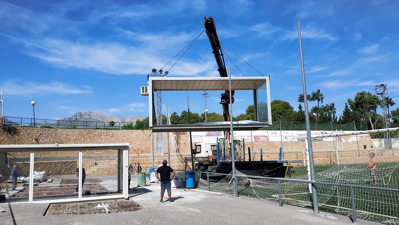 El CF l'Alfàs del Pi tendrá en breve una sede social junto al campo anexo del polideportivo municipal.