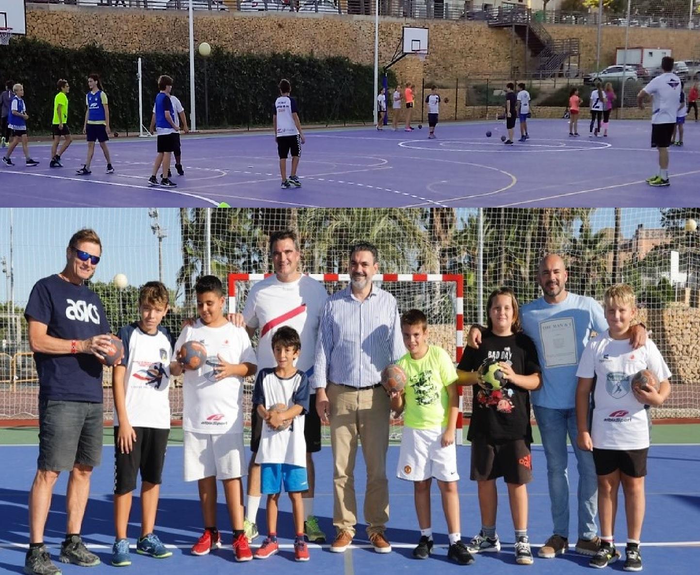 El Balonmano l'Alfàs del Pi recibe la visita del alcalde y concejal de deportes antes del inicio de la temporada.