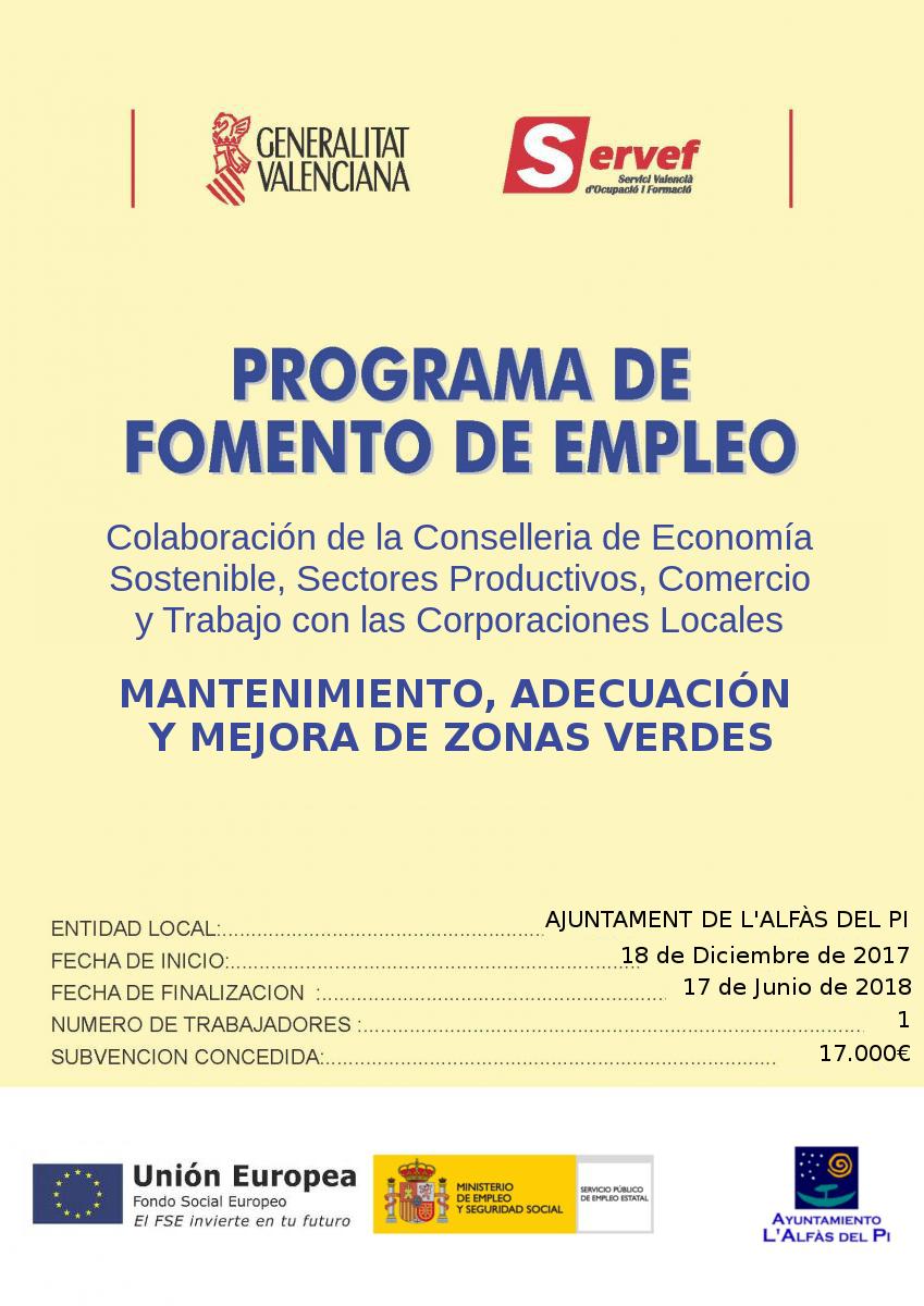 L'Alfàs y el Servef promueven el empleo en el municipio