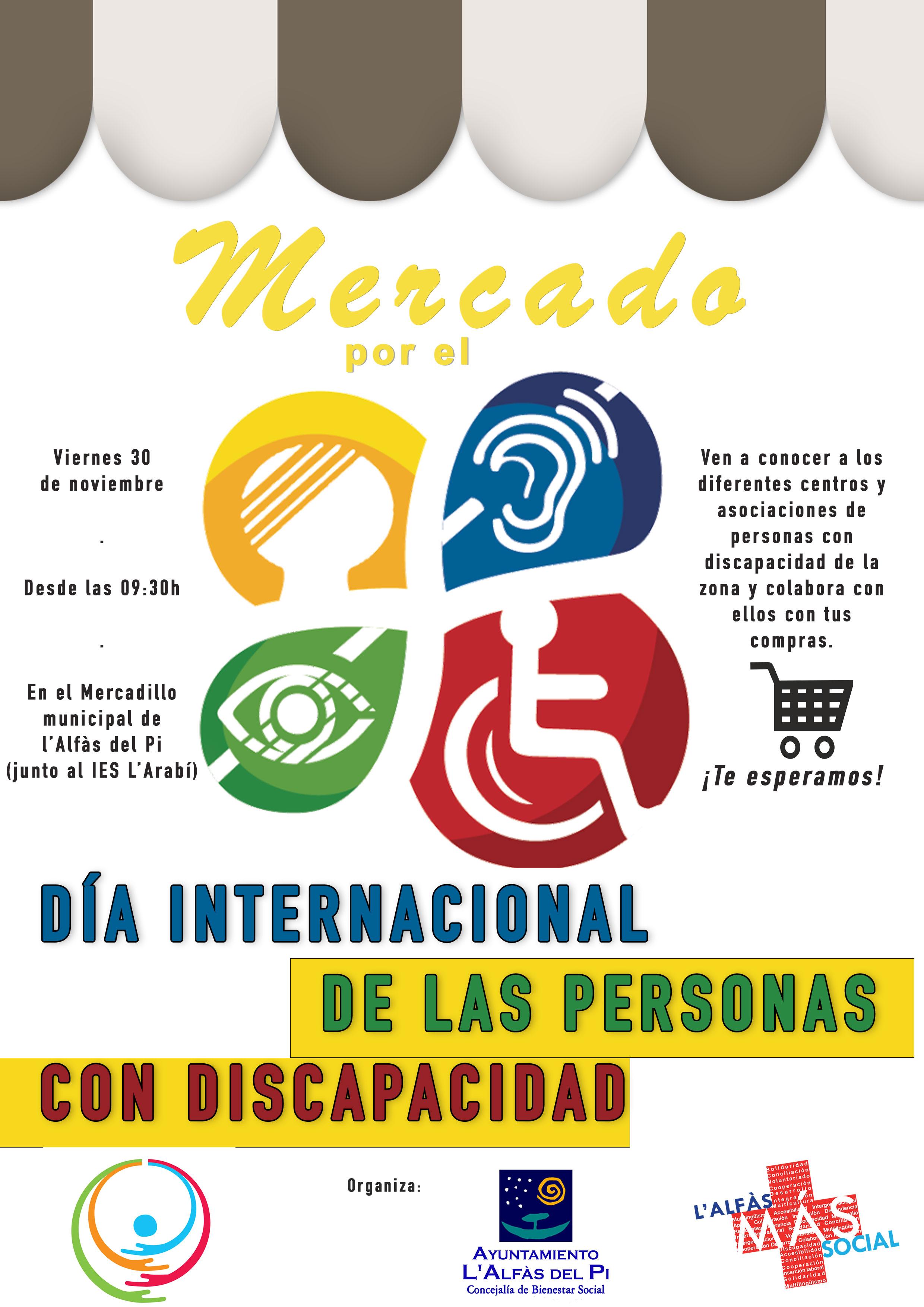Una decena de organizaciones participarán en l'Alfàs en el Día Internacional de las Personas con Discapacidad