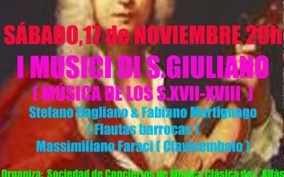 Concierto de I Musici di San Giuliano este sábado en l'Alfàs