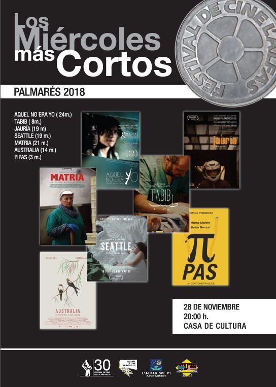 El 30º Festival de Cine de l'Alfàs termina mañana con el último pase del ciclo 'Los miércoles más cortos'