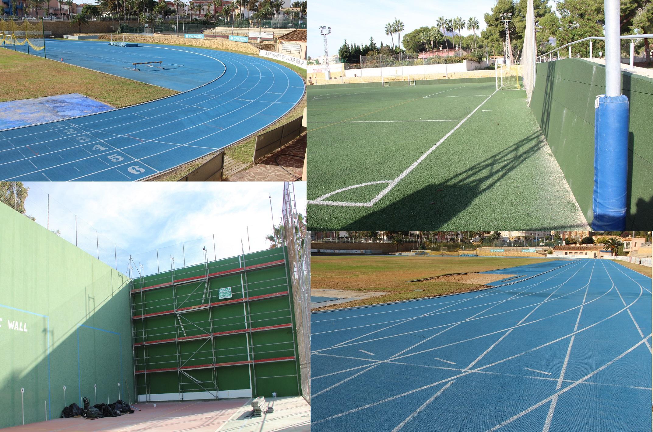 Las obras de mejora promovidas por la concejalía de deportes en el polideportivo concluyen hoy .