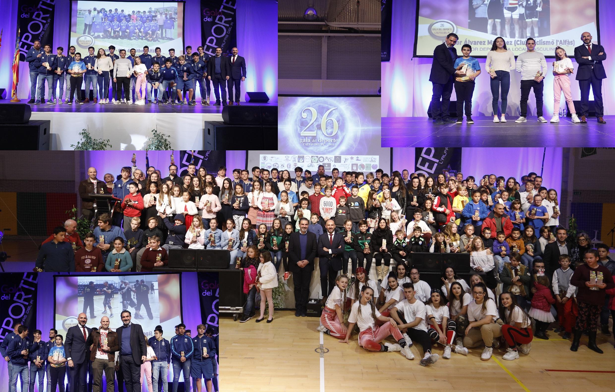 La  XXVI Gala del Deporte premió a los mejores deportistas, clubes y equipos de l'Alfás del Pi.