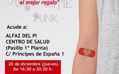 El próximo jueves se podrá donar sangre en el centro de salud de l'Alfàs del Pi