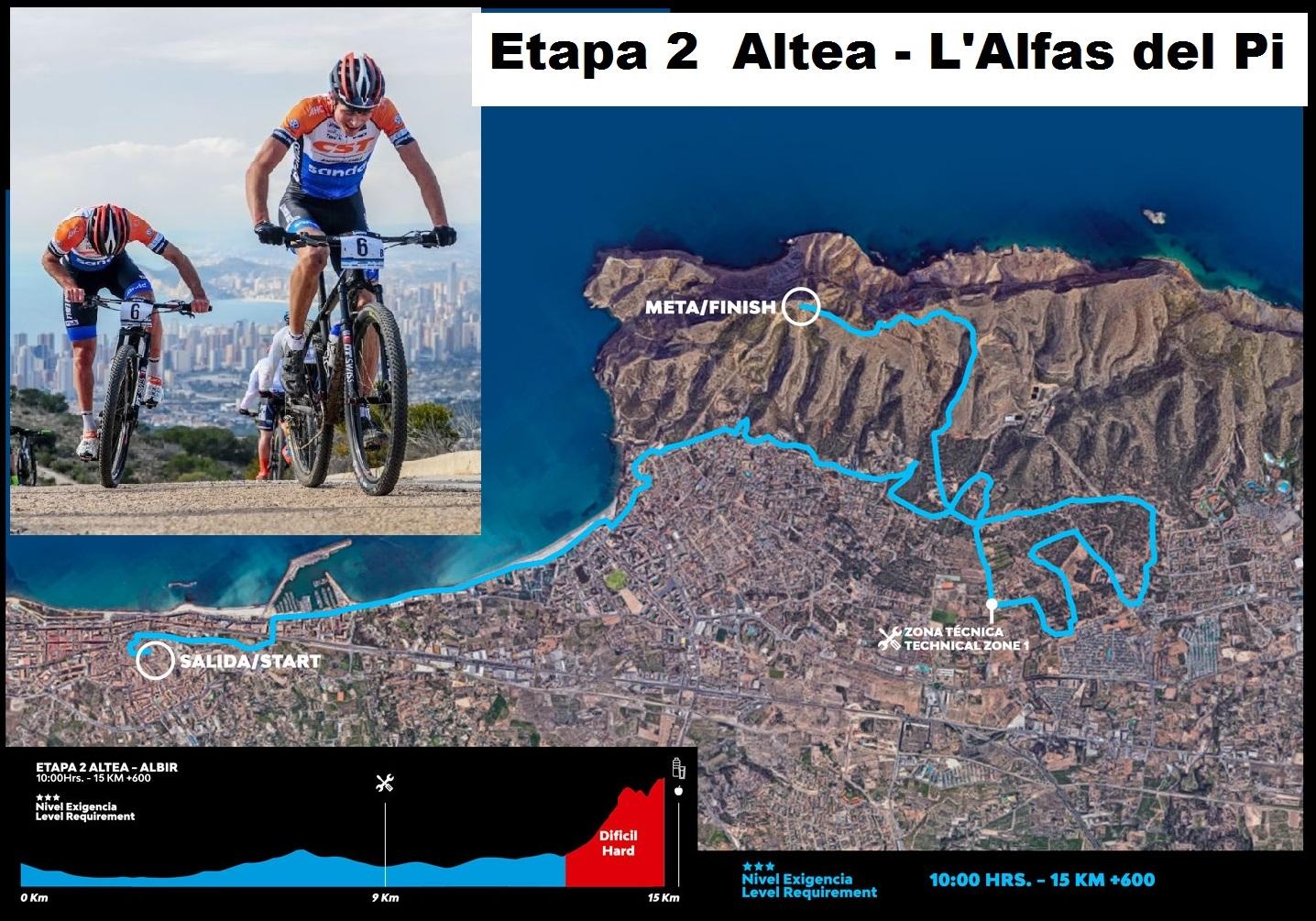 Vuelve la Costa Blanca Bike Race a la Marina Baixa con la etapa más dura entre Altea y la cima  de Sierra Helada.