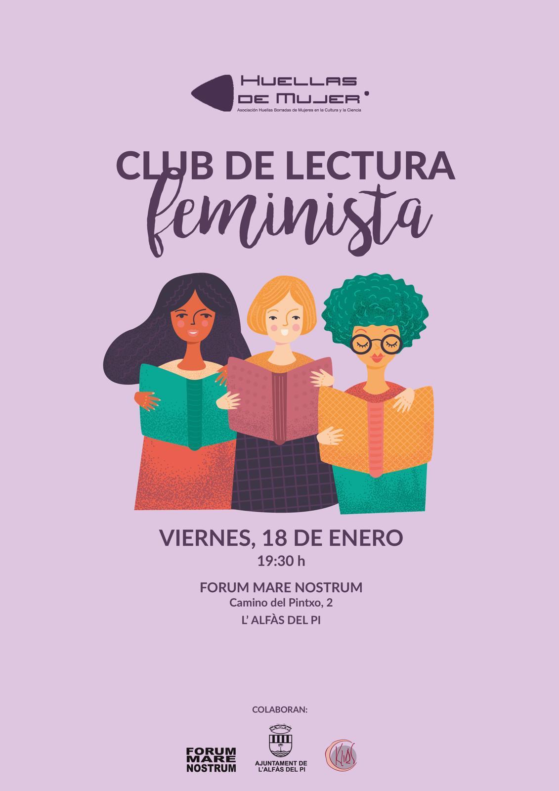 La asociación Huellas Borradas de Mujer organiza un club de lectura feminista