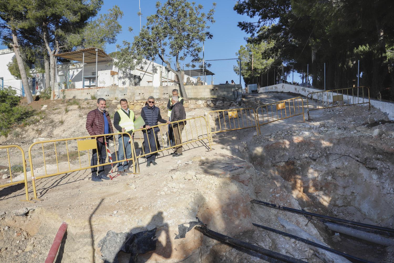 Las obras de la nueva planta de filtrado de l'Alfàs del Pi marchan a buen ritmo