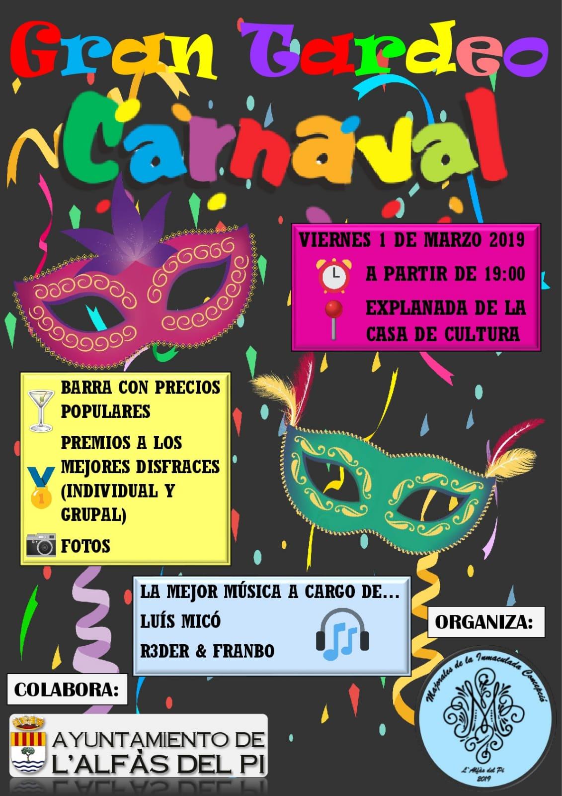Las Mayoralas de la Purísima organizan en l'Alfàs del Pi un carnaval para todos los públicos