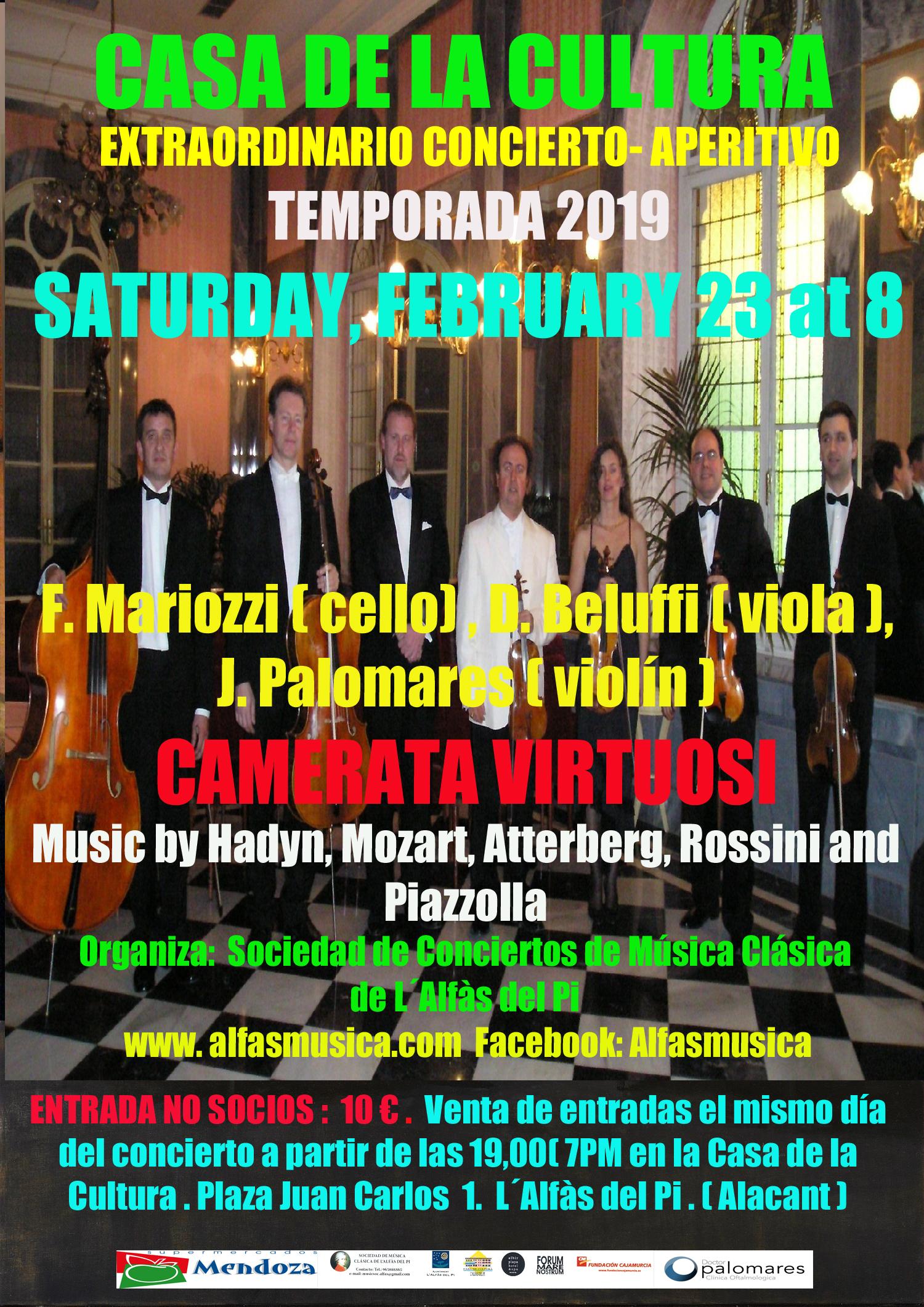 La Casa de Cultura de l'Alfàs acoge un concierto de Francesco Mariozzi y Camerata Virtuosi