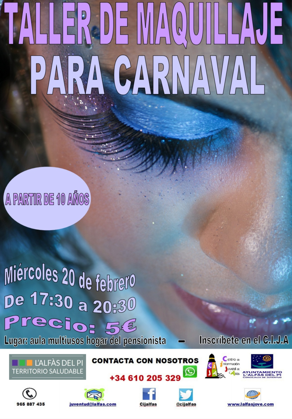 Juventud lanza un taller de maquillaje para Carnaval