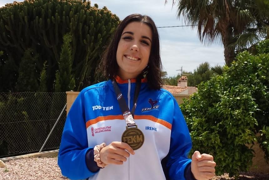 Irene Barkero  la Subcampeona del mundo y Campeona de España de Muai Thai 2018, ha conseguido un bronce en el Campeonato de España 2019.