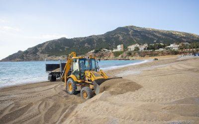 Nueva actuación en la playa de l'Albir ante el inicio de la temporada estival
