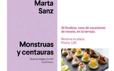 El Club de Lectura Feminista acoge la presentación del libro 'Monstruas y centauras' de Marta Sanz