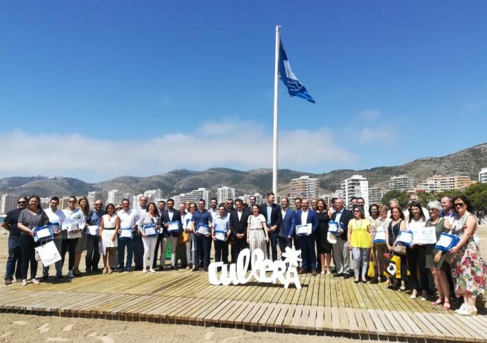 L'Alfàs del Pi recibe en Cullera cinco Banderas Azules