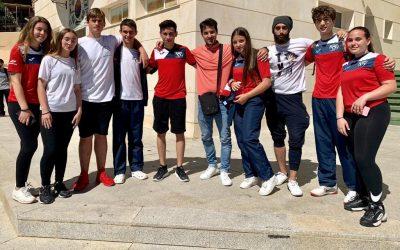 8  jóvenes de l'Alfàs se presentan a cursos de arbitraje y 4º DAN de taekwondo