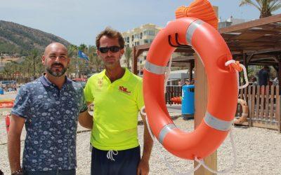La Concejalía de Playas instala nuevos aros de seguridad