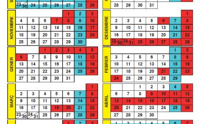 Propuesta de calendario escolar en l'Alfàs para el curso 2019-2020
