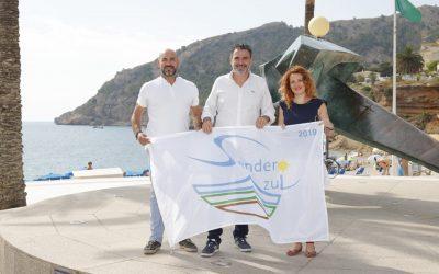 La Bandera del Sendero Azul para el Camino al Faro y Centro Azul para el CEA Carabineros, ya ondea en el Albir