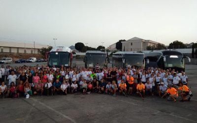Más de 200 participantes hubo en  la 12ª Caminata Nocturna