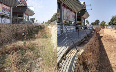 Las concejalías de Urbanismo  y Servicios Técnicos han activado el Plan de Limpieza  Barrancos