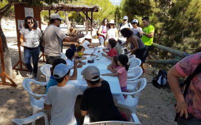 30 personas participaron  en la visita guiada y los talleres que organizó el Parque Natural Serra Gelada