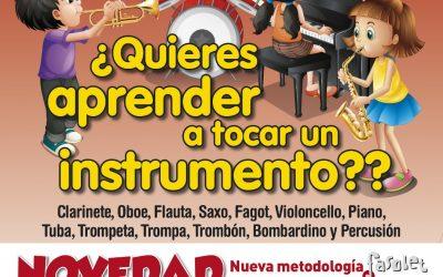 Ya se ha abierto el plazo de inscripción a la escuela de música de la Sociedad Musical La Lira de l'Alfás del Pi
