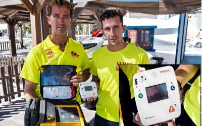 Renovado el equipo   DESA del puesto de socorrismo de Playa Albir