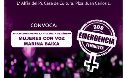L'Alfàs acoge este viernes la manifestación comarcal 'La Noche será Violeta' contra la violencia de género