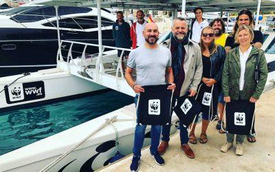 La Concejalía de Medio Ambiente invitada al Catamarán solar de WWF que hace campaña por la eliminación del plástico del mar