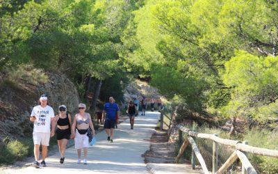 Más de  50.000 visitantes ha registrado el Parque Natural  Serra Gelada este verano
