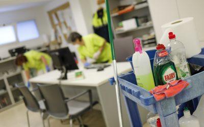 Prevención Laboral refuerza la limpieza del Retén Policial de l'Alfàs
