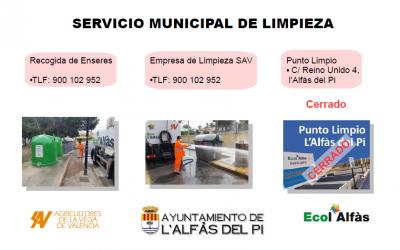 El Ayuntamiento recuerda que para el reciclaje de enseres y voluminosos se debe llamar al 900.102.952
