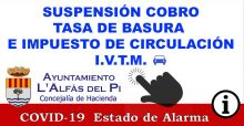 Suspensión ITVM COVID