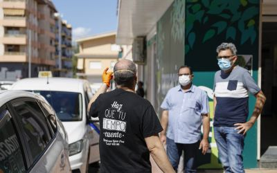 Esterilizados los 22 taxis de l'Alfàs con ozono gracias a La Luna Azul