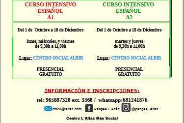 La oficina Pangea de l'Alfàs reanuda los Cursos de Español gratuitos