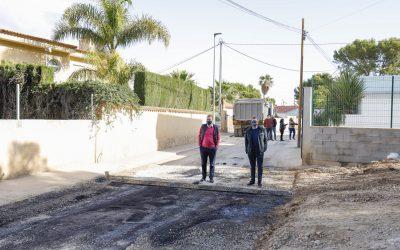 Terminan las obras de renovación de la red de pluviales y agua potable en la calle Merla de l'Albir