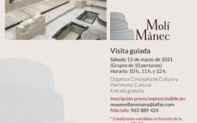 El Próximo 13 de marzo l'Alfàs organiza una visita guiada al Molí de Mànec