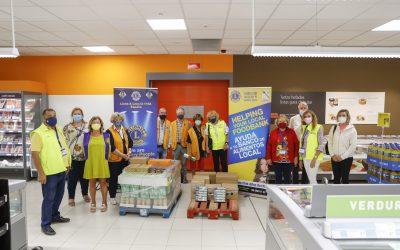 El Club de Leones de l'Alfàs dona al Voluntariado Social  una compra de 500 euros