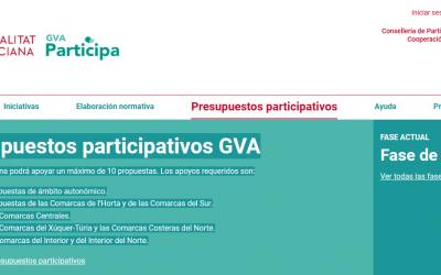 Cualquier persona puede apoyar propuestas en los primeros presupuestos participativos de la GVA