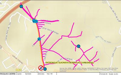Corte de agua programado en la avenida Carbonera para el próximo martes 15 de junio