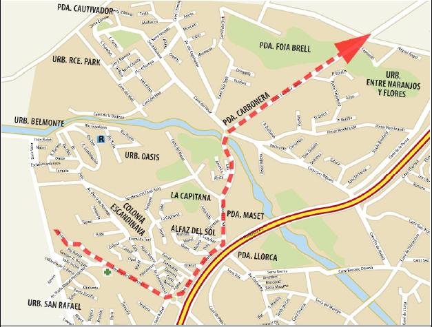 Gestiones con la Federación de Ciclismo evitan cortar al tráfico las vías más céntricas de l'Alfàs este sábado y domingo