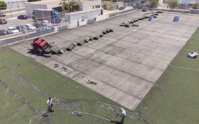 Avanzan las obras de remodelación del campo de fútbol 11 de l'Albir